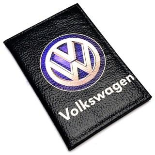 Обложка для автодокументов «Volkswagen» кожаная Минск +375447651009