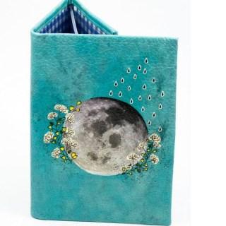 Обложка для документов 2 в 1 «Луна в цветах» купить