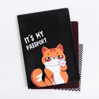 Обложка для паспорта «Рыжий кот» купить в Минске +375447651009