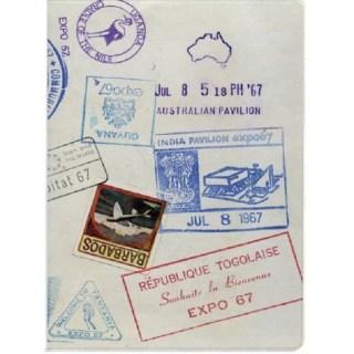 Обложка для паспорта «Штампы» купить в Минске +375447651009