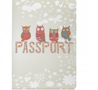 Обложка для паспорта «Совушки» купить в Минске +375447651009