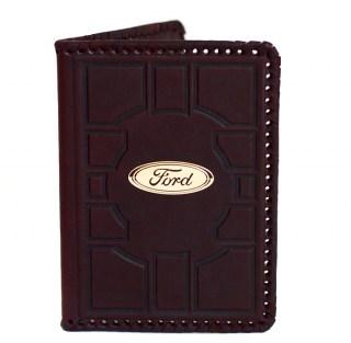 Обложка на автодокументы «Ford» кожаная купить в Минске +375447651009