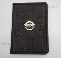 Обложка на автодокументы «Nissan» кожаная купить в Минске +375447651009