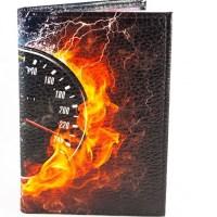 Обложка на автодокументы «Скорость» кожаная купить