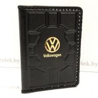 Кожаная обложка на автодокументы «Volkswagen» (Фольксваген) Минск +3754447651009