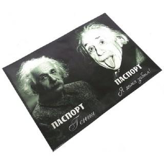 Обложка на паспорт «Эйнштейн» кожаная  Минск +375447651009