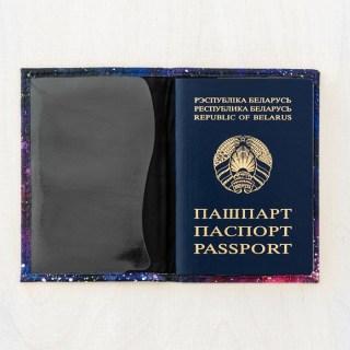 Обложка на паспорт «Космическая» кожаная купить Минск +375447651009