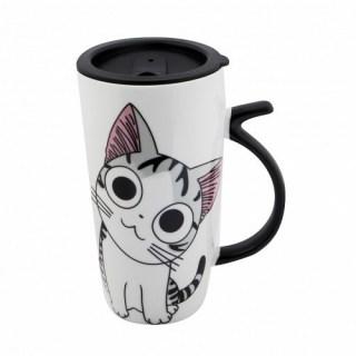 Оригинальная кружка «Котик» с крышкой купить в Минске +375447651009