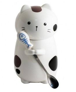 Кружка Кот с ложкой вид №3 купить