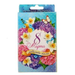 Открытка с растущей травой «Маме в день 8 Марта» купить в Минске +375447651009