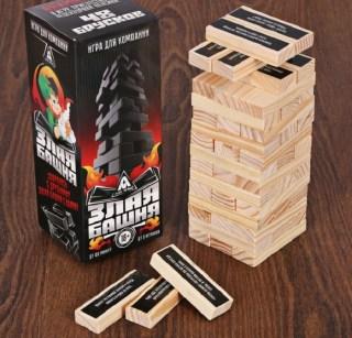Падающая башня «Злая» 48 брусков 18+ купить в Минске +375447651009