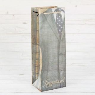 Пакет для бутылки крафт «Лучшему мужчине» купить в Минске +375447651009