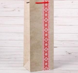 Пакет для бутылки «Национальный узор» купить в Минске +375447651009