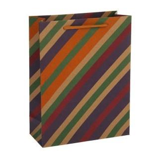 Пакет крафт «Цветные полоски» купить Минск