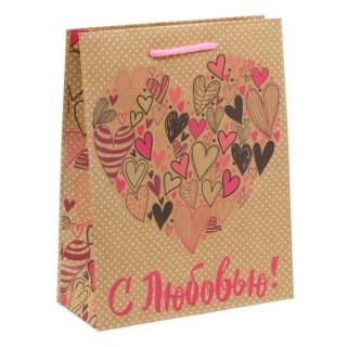 пакет крафт с любовью купить