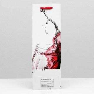 Пакет под бутылку «Бокал вина» купить в Минске +375447651009