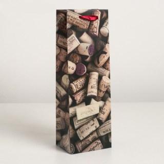 Пакет под бутылку «Коллекция пробок» купить в Минске +375447651009