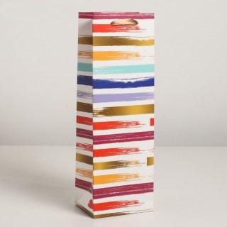 Пакет под бутылку «Цветные полоски» купить в Минске +375447651009