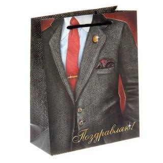 Пакет подарочный «Поздравляю» галстук купить Минск