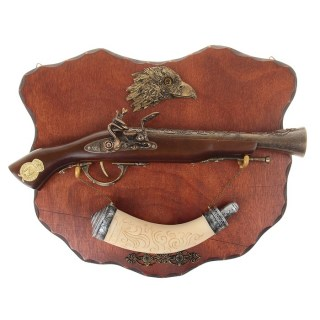 Панно сувенирное «Мушкет» с расписным рогом купить в Минске +375447651009