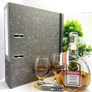 Папка-бар «Антистресс» с набором для коньяка Минск +375447651009