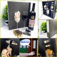 Папка-бар «Черная бухгалтерия» с набором для вина Минск +375447651009