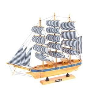Парусник декоративный «Попутного ветра» бело-синие паруса купить в Минске +375447651009