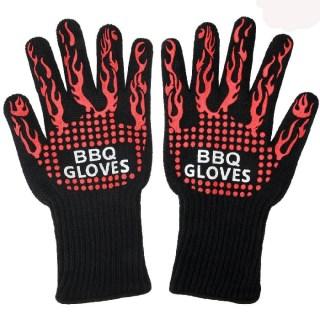 Перчатки для барбекю жаропрочные в комплекте 2 штуки( красные) купить в Минске +375447651009