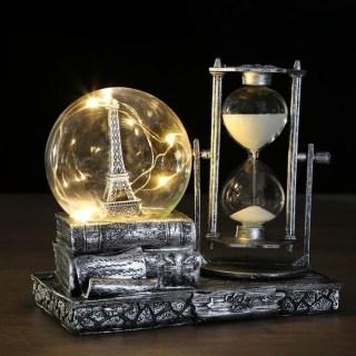 Песочные часы со светильником «Башня Парижа» купить в Минске +375447651009