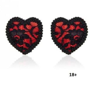 Пэстисы «Сердечки» с кружевом купить в Минске +375447651009
