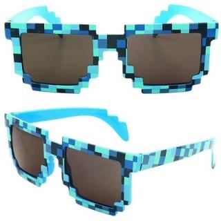 Пиксельные очки Minecraft голубые купить в Минске +375447651009