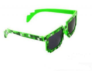 Пиксельные очки Minecraft  зеленые купить в Минске +375447651009