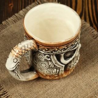 Пивная керамическая кружка «Череп» 0,5 л. купить в Минске +375447651009