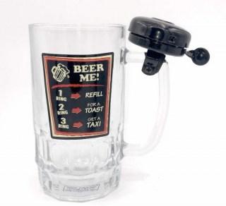 Пивной бокал со звонком «Beer me» 0,5 л. купить в Минске +375447651009