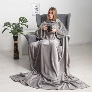 Плед с рукавами «Handy» серый купить в Минске +375447651009