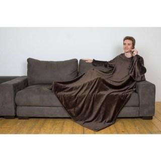 Плед с рукавами Sleepy шоколадный (коричневый) Минск