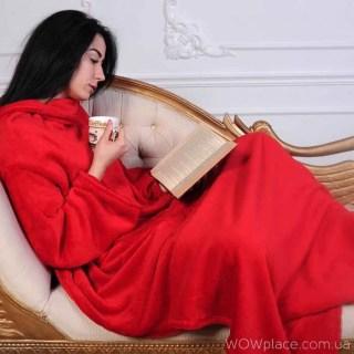 Плед с рукавами SNUGGIE красный купить