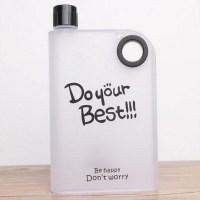 Плоская бутылка для воды «DO your Best» черная купить Минск