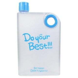 Плоская бутылка для воды «DO your Best» голубая купить Минск