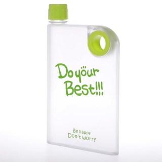 Плоская бутылка для воды «DO your Best» зеленая купить Минск