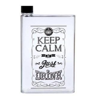 Плоская бутылка для воды «Keep calm and drink» Минск