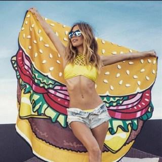 Пляжное покрывало «Бургер» купить +375447651009