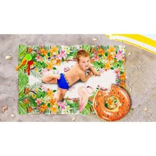 Пляжное покрывало в рюкзаке «Фламинго» 90х140 см купить в Минске +375447651009