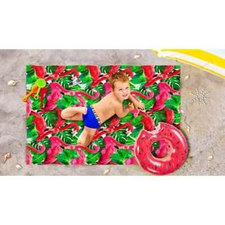 Пляжное покрывало в рюкзаке «Красный фламинго» 90х140 см купить в Минске +375447651009