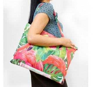Пляжное покрывало в сумке «Фламинго» 145х200 см купить в Минске +375447651009