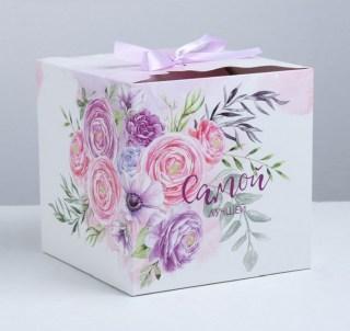 Подарочная коробка «Букет» 18 × 18 × 18 см купить в Минске +375447651009