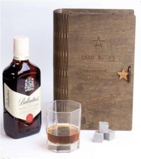 Подарочная коробка для бутылки с камнями для виски Минск