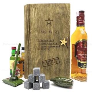 Подарочная коробка для бутылки с камнями для виски Минск +375447651009