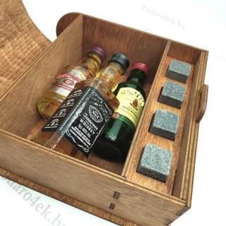 Подарочная коробка для спиртного «23 февраля» с камнями для виски Минск +375447651009