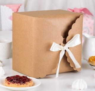 Подарочная коробка крафт «Нежность» 14,5 х 9 х 14,5 см купить в Минске +375447651009